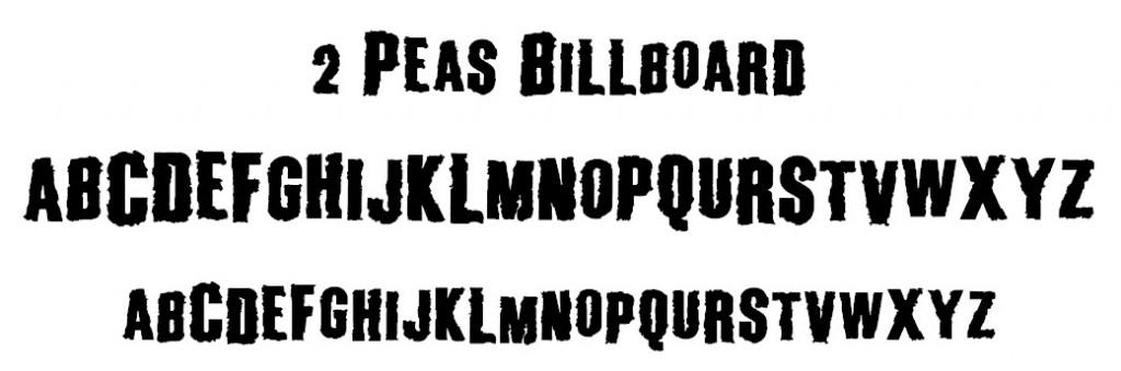 2 Peas Billboard Font