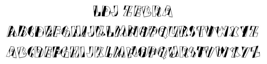 LDJ Zebra Font
