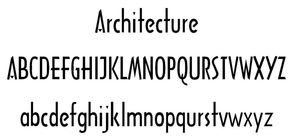 Architecture Font
