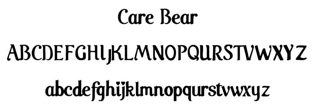Care Bear Font