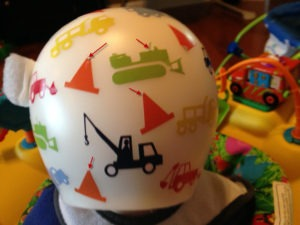 Decals on the back of active kid's helmets need Mod Podge!