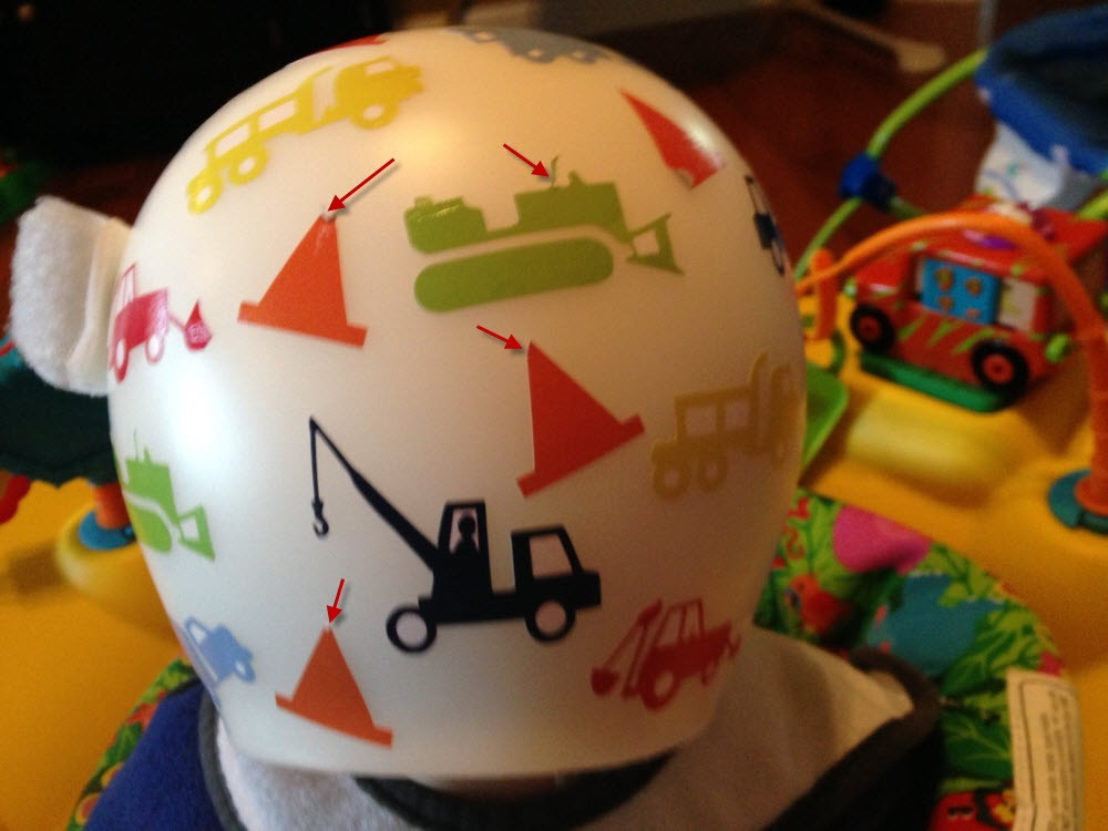 How To Apply The Vinyl Decals  Bling Your Band - Baby helmet decals