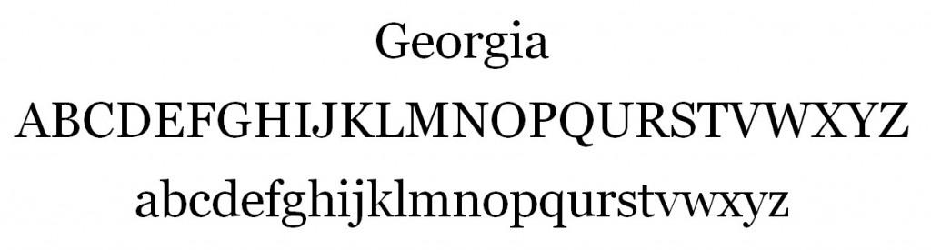 Georgia Font