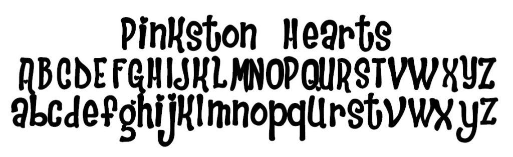Pinkston Hearts Font