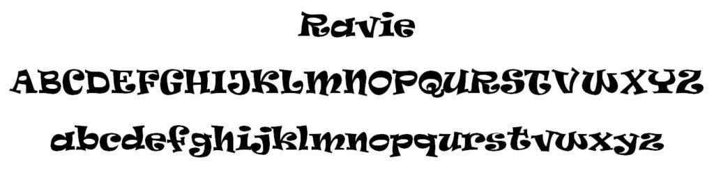 Ravie Font