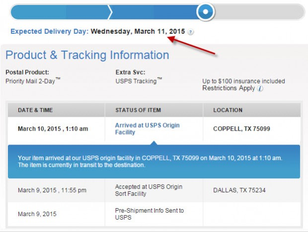 Don't be mislead by the Expected Shipping Date
