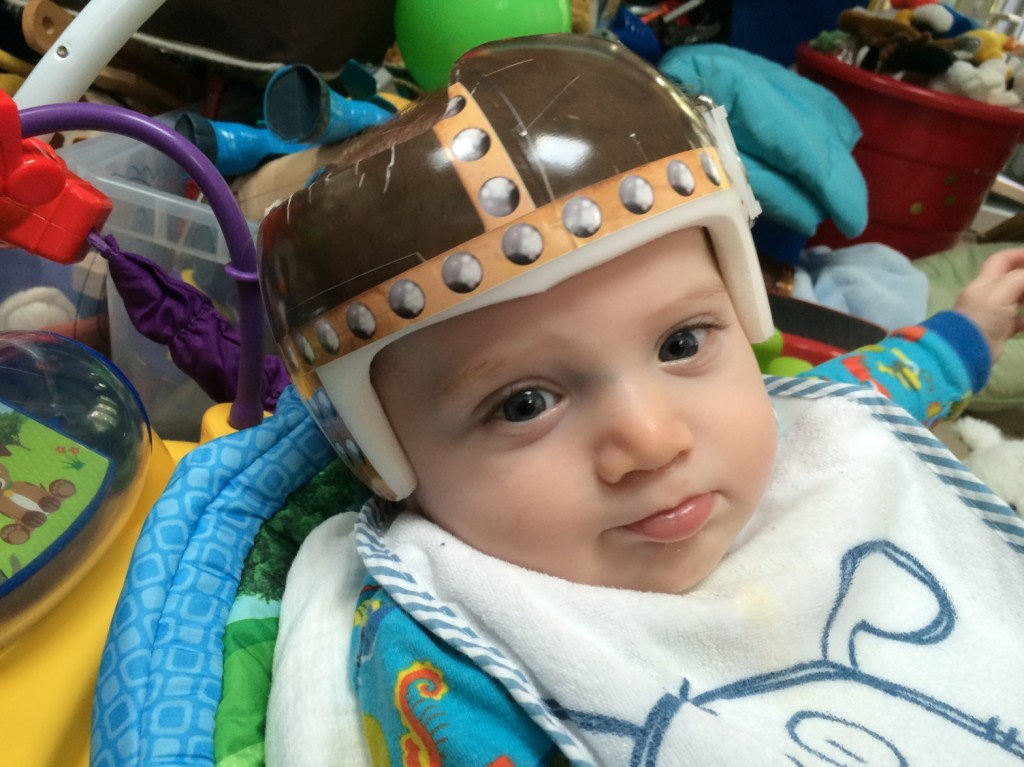 Hunter in his Viking Helmet