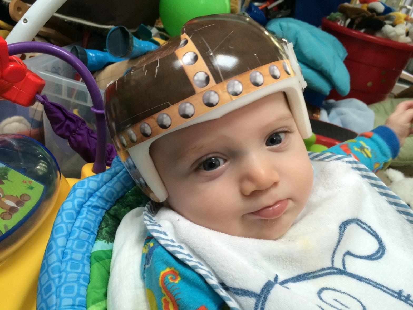 Viking Baby Helmet Design Application Example Bling Your Band - Baby helmet decals