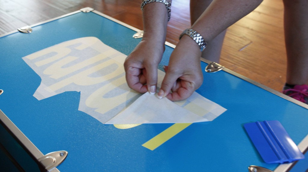 Peel the transfer tape off by pulling it straight back - don't pull it up!